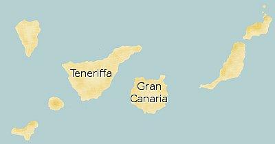 Übersichtskarte Gran Canaria und Teneriffa